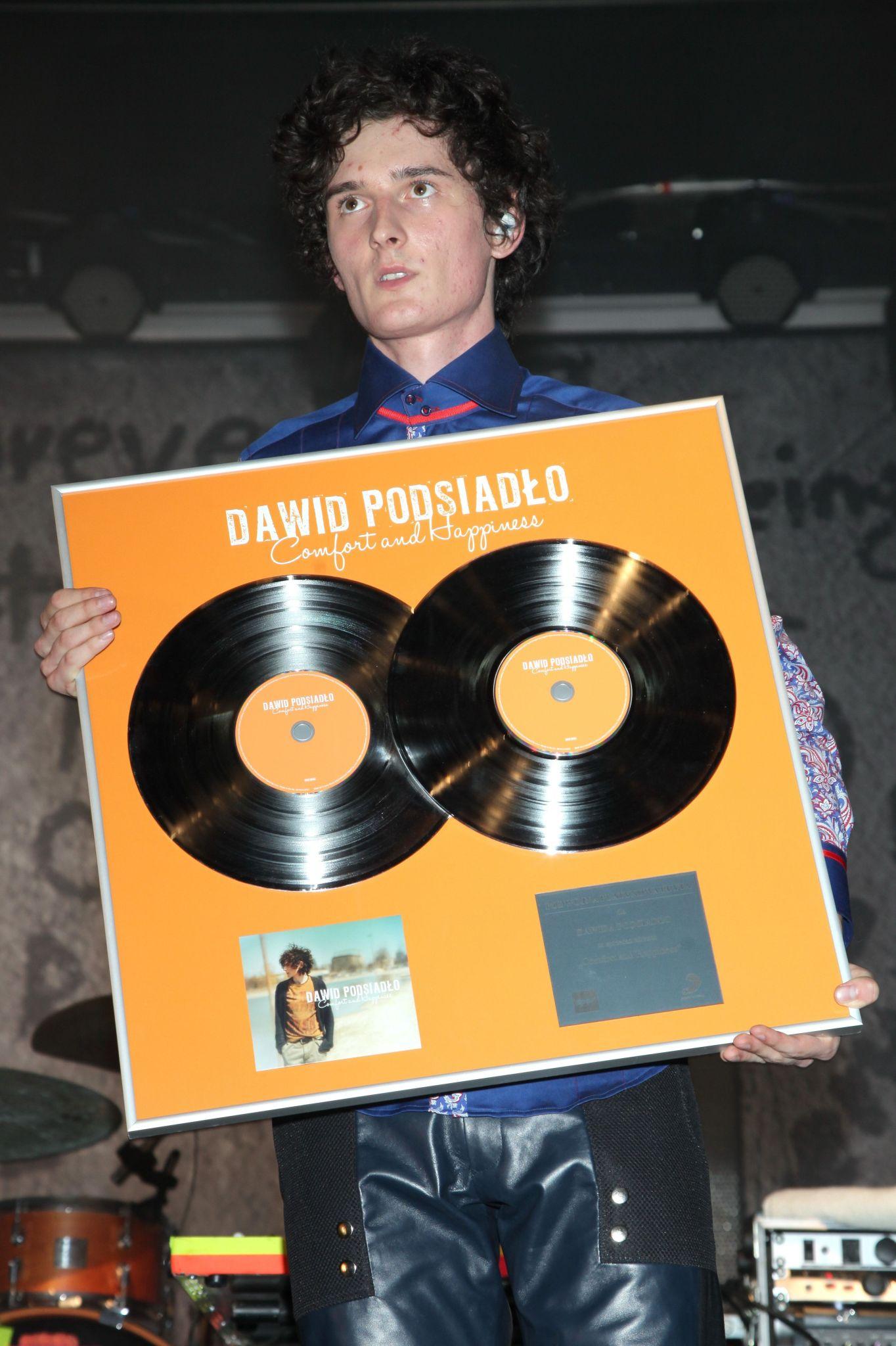 Dawid Podsiadło otrzymał platynową płytę